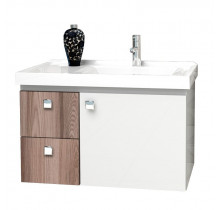 Gabinete Para Banheiro Madeira Moara 60 Cozimax Branco/Tamarindo