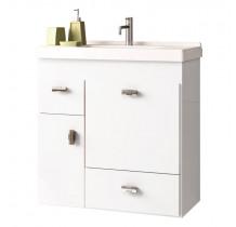 Gabinete Para Banheiro Madeira Orquídea 60 Cozimax Branco