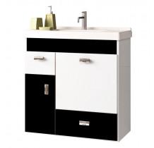 Gabinete Para Banheiro Madeira Orquídea 60 Cozimax Branco/Preto