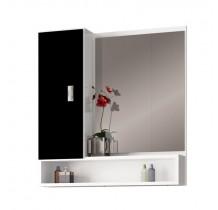 Espelho Para Banheiro Madeira Orquídea 60 Cozimax Branco/Preto