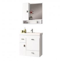 Conjunto Para Banheiro Madeira Orquídea 60 Cozimax Branco