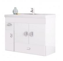 Gabinete Para Banheiro Madeira Orquídea 80 Cozimax Branco