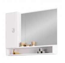 Espelho Para Banheiro Madeira Orquídea 80 Cozimax Branco