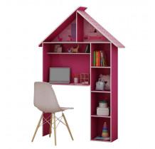 Escrivaninha Infantil Casinha Gelius Pink Plock