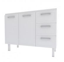 Gabinete Para Pia Cozinha Aço Apolo Flat 1.2 Cozimax Branco