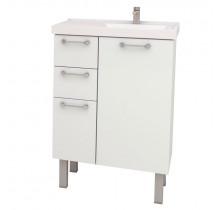 Gabinete Para Banheiro Aço Cereja 60 Cozimax Branco