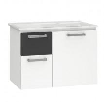 Gabinete Para Banheiro Aço Kiwi 60 Cozimax Branco/Preto