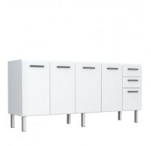 Gabinete de Pia 180 Eros Flat 3G Cozimax Branco