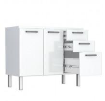 Gabinete de Pia 120 Eros Flat 3G Cozimax Branco