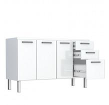 Gabinete de Pia 160 Eros Flat 3G Cozimax Branco