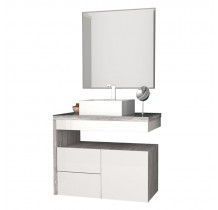 Conjunto Para Banheiro 3 Peças Aimoré 70 Cozimax Branco/Calcare