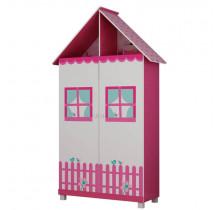Guarda Roupa de Casinha Infantil 2 Portas Gelius Pink Plock
