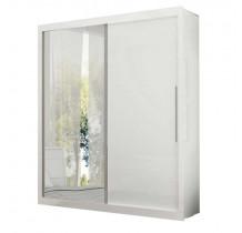 Guarda Roupa Portas de Correr 1 Porta de Espelho Pérola Gelius Branco