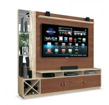 Estante Home Para TV 65 Polegadas Dakar EDN Naturale/Off White