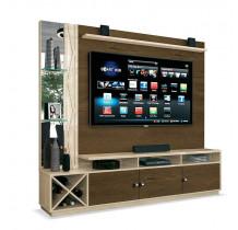 Estante Home Para TV 65 Polegadas Dakar EDN Nogal/Off White