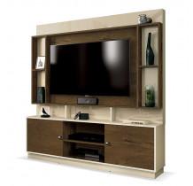 Estante Home Para TV 50 Polegadas Nevada EDN Off White/Nogal