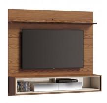 Home Suspenso Para TV 65 Polegadas Ópera 1.8 com Espelho Imcal Freijó/Off White