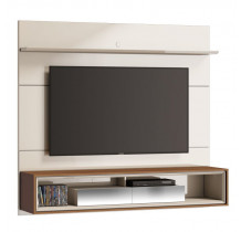 Home Suspenso Ópera 1.8 Com Espelho Para TV até 65 Polegadas Imcal - Off White/Freijó
