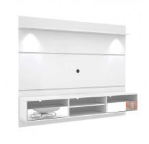 Home Suspenso Para TV 60 Angra Com Espelho Mirarack Branco