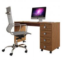 Escrivaninha Mesa Office Dubai Lukaliam Amêndoa