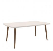 Mesa de Jantar Retrô 170 x 90 Jade RV Móveis Off White
