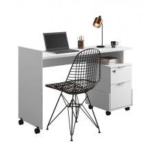 Mesa Para Escritório Estudos Alessa M1 Lukaliam Branco