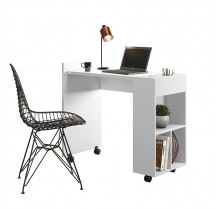 Mesa Para Escritório Estudos Alessa M2 Lukaliam Branco
