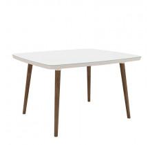 Mesa de Jantar Retrô 120 x 90 Jade RV Móveis Branco