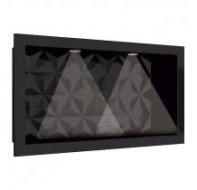 Nicho Para Banheiro Com LED 60x30 Mármore Sintético Cozimax Preto Textura