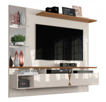Painel Para TV 55 Polegadas Intense 1.8 Lukaliam Off White/Damasco