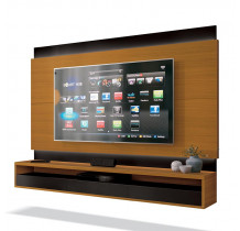 Painel Suspenso Para TV até 60 Pol Savoy 1.6 EDN Cedro/Preto