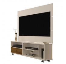 Rack 5808 Com Painel Para TV 5303 JB Bechara Pérola/Caramelo