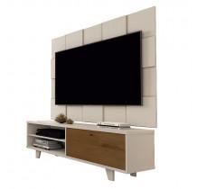 Rack 5959 Com Painel 5095 Para TV Até 55 JB Bechara Pérola/Caramelo