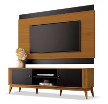 Rack Com Painel Legacy 1.6 Para TV 60 Polegadas EDN Preto/Cedro