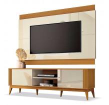 Rack Com Painel Legacy 1.6 Para TV 60 Polegadas EDN Off White/Cedro