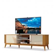 Rack Legacy 1.6 Para TV 60 Polegadas EDN Off White/Cedro