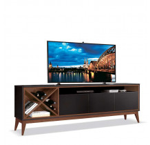 Rack Sala Para TV até 65 Polegadas Merlot 180 EDN Preto/Naturale