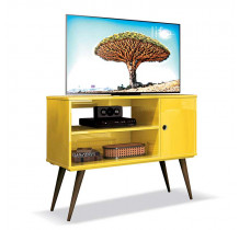 Rack Retrô Pequeno Para TV 37 Reale EDN Amarelo