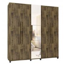 Guarda Roupa Com Espelho 5 Portas Munique RV Móveis Amadeirado