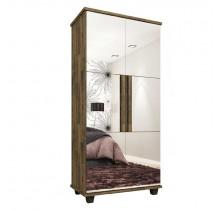Sapateira 2 Portas com Espelho Requinte RV Móveis Amadeirado