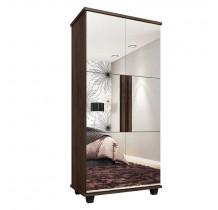Sapateira 2 Portas com Espelho Requinte RV Móveis Noce